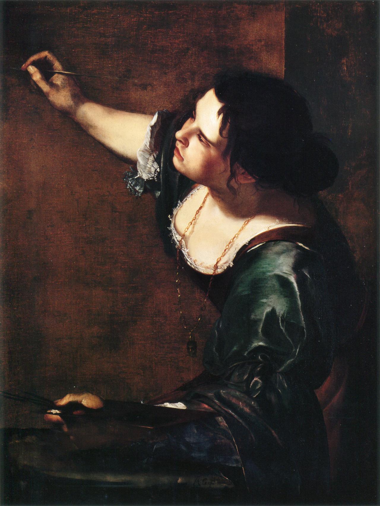 Autoportret jako alegoria malarstwa / La Pittura, Artemisia Gentileschi, olej na płótnie, 1638-1639