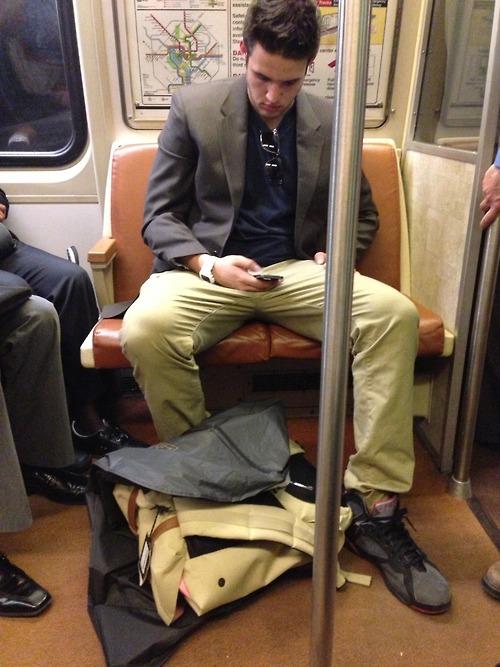 men on train