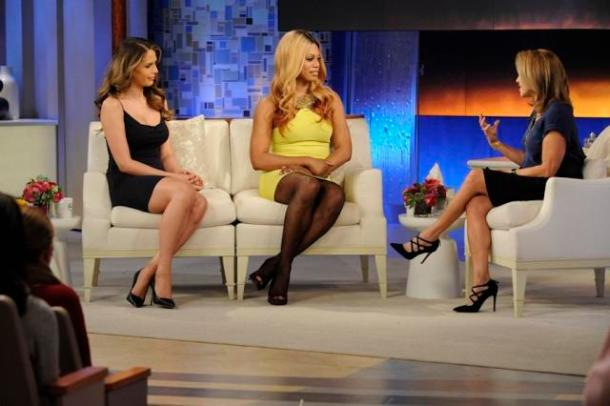 Laverne Cox and Carmen Carrerra in their interview with Katie Couric.