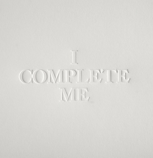 i complete me